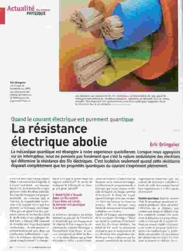 La résistance éléctrique abolie