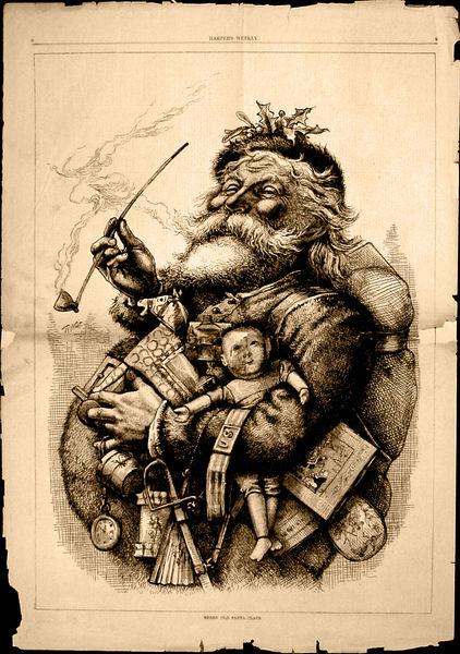Le père Noël, par Thomas Nast (1881)