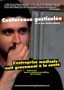 Affiche des conférences gesticulées de Jérémy