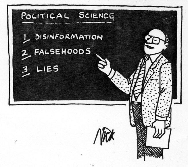 "Sciences politiques + sciences humaines = ""bullshit occidental inutile"""