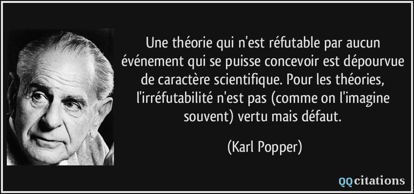 Critère de Popper et réfutabilité d'une théorie
