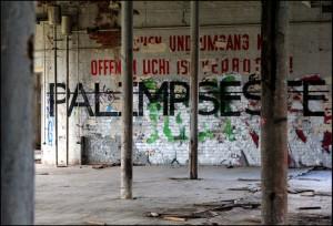 """Oeuvre """"Palimpseste"""" de l'artiste RERO (Allemagne, 2011)"""