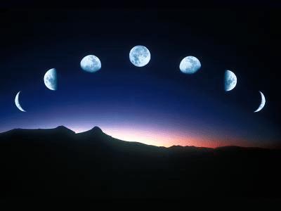 Image montrant le cycle de la Lune