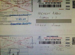 Accusé de reception pour la demande de renoncement à la nationalité d'Adlène Hicheur - crédit Radio France, Hicheur