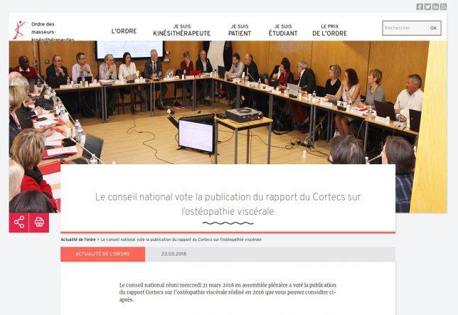 Rapport CORTECS CNOMK : l'ostéopathie viscérale à l'épreuve des faits