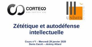 Cours Zététique et autodéfense intellectuelle à l'Université de Nîmes