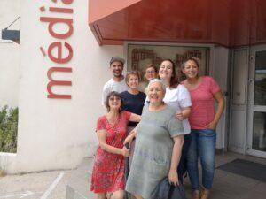 Une partie de l'excellente équipe de la médiathèque d'Aubagne et des services jeunesse et prévention